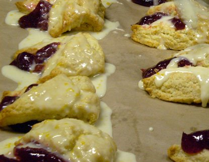 Raspberry Orange Scones