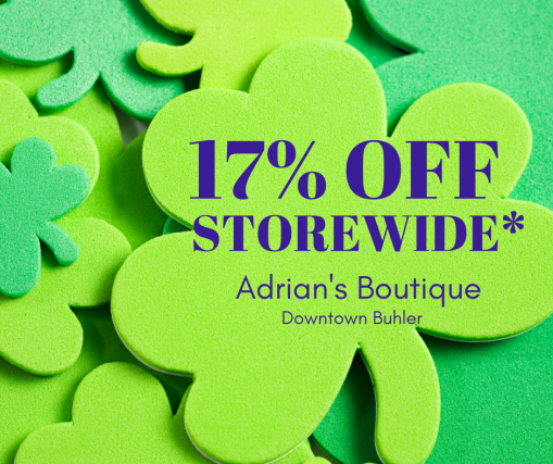 17% off STOREWIDE*Saturday Adrian's Boutique
